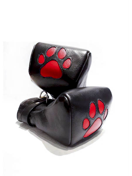 Leather Puppy Mitts